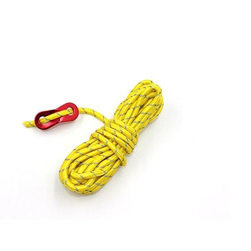 nobrand テント ロープ 反射材入りパラコード 長 4m 8本 ガイライン ガイドロープ アルミ自在金具付 (5mm 耐荷重 250kg)