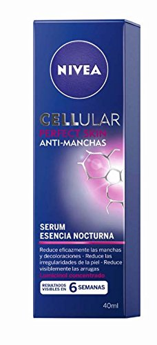 NIVEA Cellular Perfect Skin Serum Esencia Nocturna (1 x 40 ml), sérum de noche, sérum antimanchas, sérum facial antiedad para reducir las arrugas y las decoloraciones