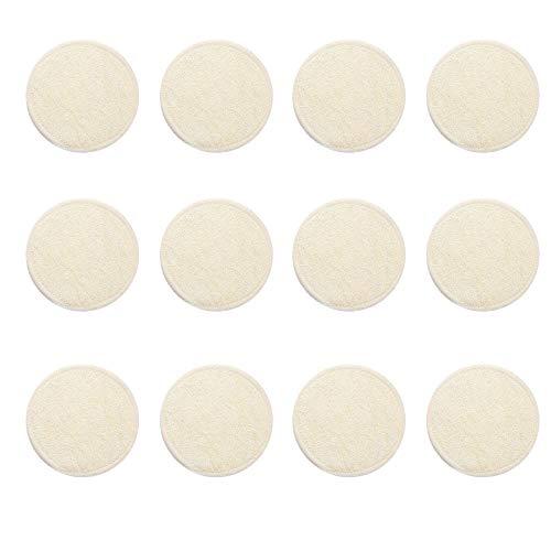 Donpow Lot de 12 tampons démaquillants en bambou lavables réutilisables pour lingettes pour le visage Lèvres pour les yeux Riz blanc