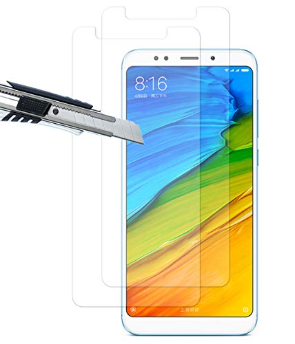 THILIVE [2 Unidades] Protector de Pantalla para Xiaomi Redmi 5 Plus, Vidrio Cristal Templado 9H Dureza,2.5D Touch,HD-Display,Anti-Huellas,Anti-Burbujas