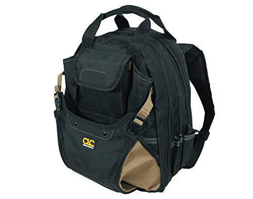 CLC 1134 Carpenter's Tool Backpack with 44 Pockets and Padded Back Support