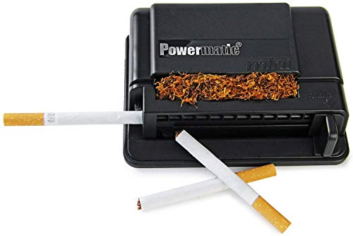 M&M MM 16940 Powermatic Mini - Máquina para Liar Cigarrillos, de plástico, en Color Negro, 10 x 10 x 5 cm