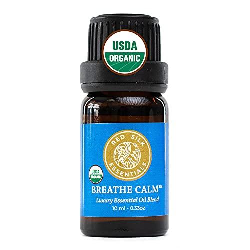 Organic Breathe Calm Essential Oil Respiratory Blend, 100%...