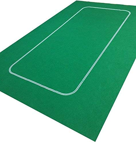 GREEN TEXAS HOLDEM / POKER CASINO FELT BAIZE LAYOUT + POKER / PLAYING CARDS