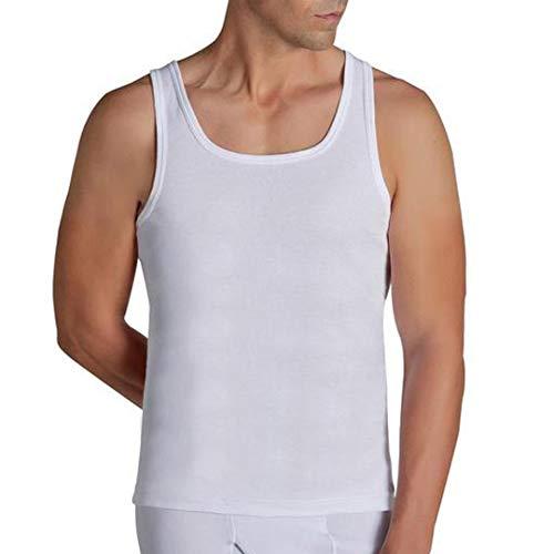 YSABEL MORA - Camiseta TERMICA Hombre Tirantes Hombre Color: Blanco Talla: Large
