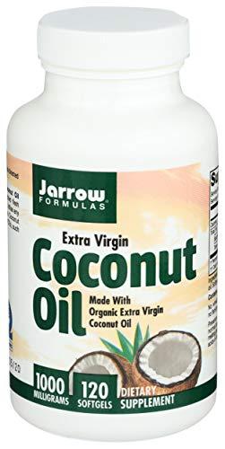 Jarrow Formulas Extra Virgin Coconut Oil 1000Mg (1,000Mg, 120 Softgels)