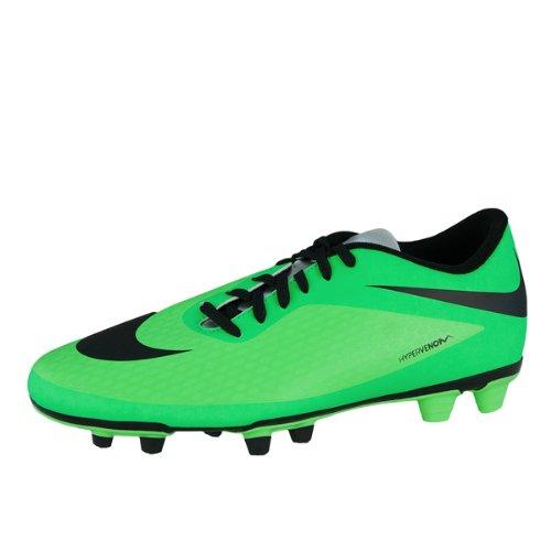 Nike Hypervenom Phade FG Fussballschuhe neo lime-black-poison green-metallic silver - 45
