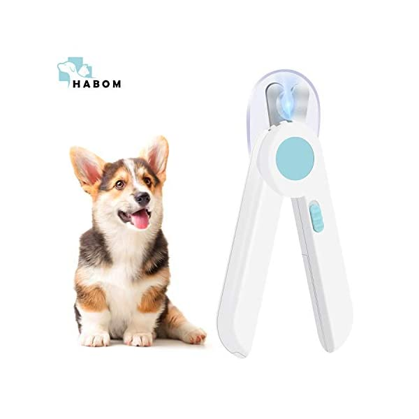 HABOM Dog & Cat Pets Nail Clippers and Trimmers – with Transparent Cover to Avoid Nail Flying, Free Nail File, Razor Sharp Blade – Professional Grooming Tool for Large and Small Animals