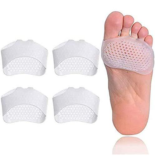 2 Paar Fußpads, Gel Vorfußpolster Fußpads, Gel Mittelfußpolster Fußpolster Vorfußpolster, Fußpads Silikon, Fußpads für frauen und männer, Erweiterbarkeit lindert Füße Schmerzlinderung