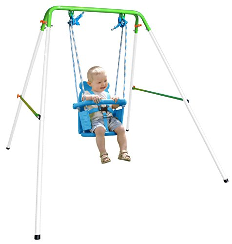 Sportspower My First Toddler Swing - Heavy-Duty Baby Indoor/Outdoor Swing Set...