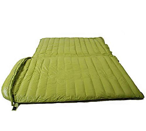 Geavanceerde slaapzak (225x130cm), Temperatuur Standaard -5~5°C, Grote Ruimte Voor 2 Personen, Outdoor Reizen, Camping Wandelen Avontuur, Ultra Licht Draagbaar