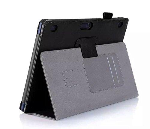 Lobwerk Hulle fur Lenovo Tab 2 A10 30 A10 70F Tab 10 TB X103F 101 Zoll Schutzhulle Etui Tablet Tasche Smart Cover A10 70L Schwarz