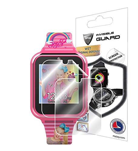 IPG for Jojo Siwa Touchscreen Kids Watch Screen Protector (2 Units) Invisible Ultra HD Clear Film Anti Scratch Guard-Smooth/Self-Healing/Bubble -Free