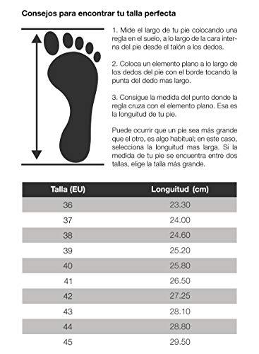 Feliz Caminar - Zueco Sanitario Flotantes Bio/con Correa Antideslizantes y Cómodos/Plantilla de corhco Anatomica (Malva 38)