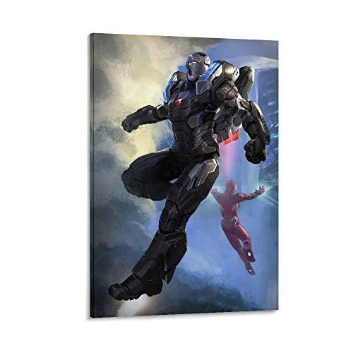 SSKJTC Cuadro artístico de pared para sala de estar o dormitorio, decoración de pared de Iron Man Tony Stark Poster decoración moderna obra de arte para paredes (40 x 60 cm)