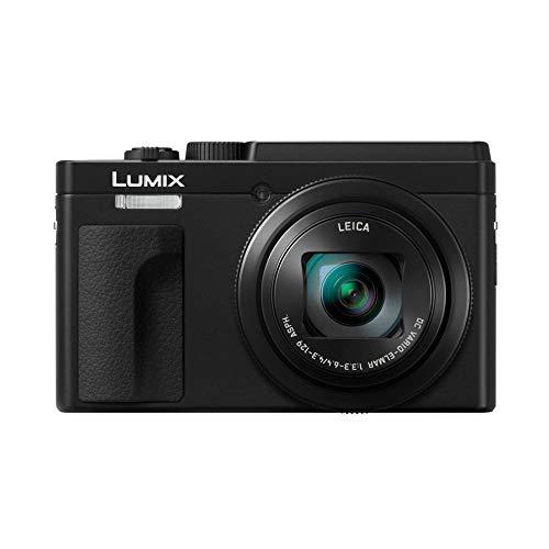 Panasonic Lumix TZ95 | Appareil Photo Compact Zoom Puissant (Capteur 20.3MP, Zoom LEICA 30x F3.3-6.4, Viseur, Ecran tactile inclinable, Mode Selfie, Vidéo 4K, Stabilisation) Noir – Version Française
