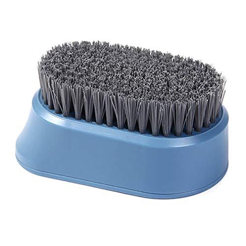 Cepillo Duradero para Limpieza del hogar Cepillo Multifuncional para lavandería de cerdas Suaves (Azul)