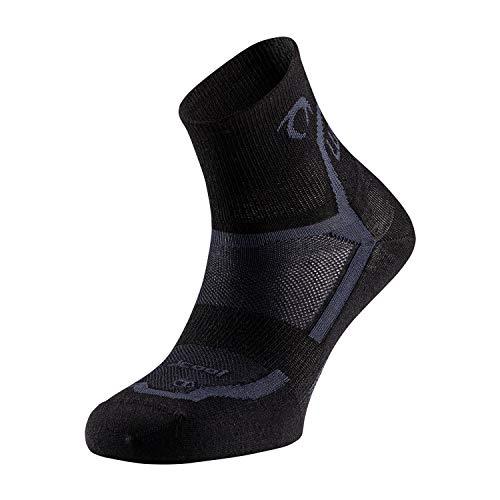 LURBEL Pista, Calcetines running, calcetines transpirables y Anti-olor, calcetines de correr, calcetines deportivos Unisex. (NEGRO - MARENGO, PEQUEÑA - S)