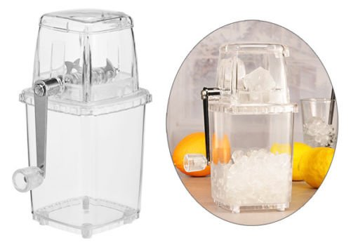 Smartweb Ice Crusher Eiscrusher EIS Zerkleinerer Eiszerkleinerer EIS Crusher mit Handkurbel 1L Cocktail Mixer Eiswürfel