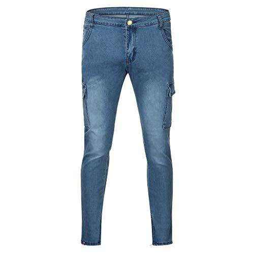 Dasongff Hose Herren Jeans Groß Größe Freizeithosen Männer Hosen Slim Fit Distressed Jeans-Hose Trekkinghose Casual Trainingshose Sporthosen Vintage Trousers