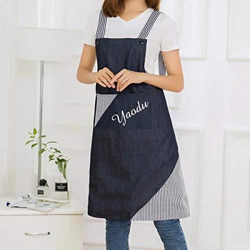YLCJ Schort 18 voorjaar nieuwe minimalistische stijl van waterdichte katoen polyester, Engelse bedrukte schorten, werkkleding, mouwloze kanten schort, koffie