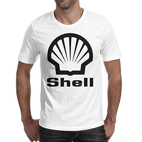 GuLuo Shell-Gasoline-Gas-Station-Locator Mens T Shirt Round Neck Cute Short Sleeve Tees