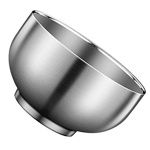 Hemoton Cuenco de Acero Inoxidable Cuencos para Servir de Cereal de Arroz de Metal Cuenco de Sopa Anti Escaldaduras Cuenco de Refrigerio Aislado Ensaladera para Cocina Cocinar Servir