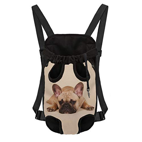 Xhuibop French Bulldog Pet Carrier Legs Out Backpack Hands-Free Dog Frontpack Carrier with Adjustable Strap Puppies Back Pack for Large Dogs 9-13 Lbs