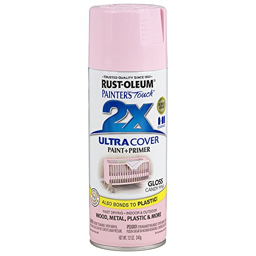 Rust-Oleum 249119 Painter's Touch 2X Ultra Cover, 12 Oz, Gloss Candy Pink