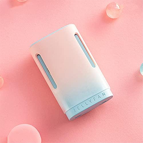 ventilador pequeño,Mini ventilador sin hojas con cuello colgante de color degradado, ventilador perezoso portátil de mano USB-Mint Taotao