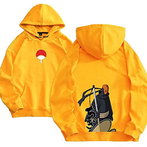 Men Hokage Ninjia Naruto Printed Drawstring Hooded Cool Cosplay Long Sleeve Loose Fit Hoodies A1L