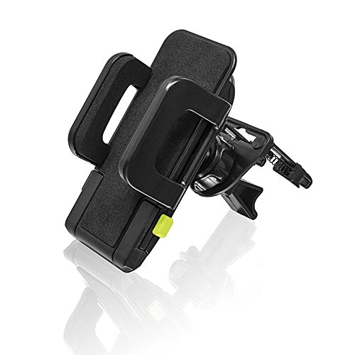 Bracketron TekGrip Smartphone Car Air Vent Mount Phone Holder Hands Free Compatible iPhone X 8 Plus 7 SE 6s 6 5s 5 Samsung Galaxy S9 S8 S7 S6 S5 Note Google Pixel 2 XL LG Nexus Sony Nokia BT1-641-2, black