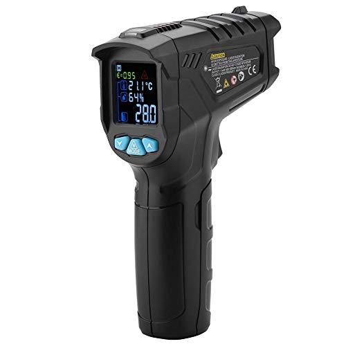 Akozon IR01D Termómetro infrarrojo Sin contacto digital -50~800℃ 0% ~ 100% RH D:S:12:1 Pantalla LCD Láser Temperatura Pistola Diferencia de temperatura Alarma Temperatura más alta