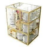 CHUTD Support de Rangement de Papeterie de Maquillage d'organisateur de Maquillage de Caisse de Maquillage Unités de boîte de Maquillage pour des tiroirs de Salle de Bains, des vanités, des compto