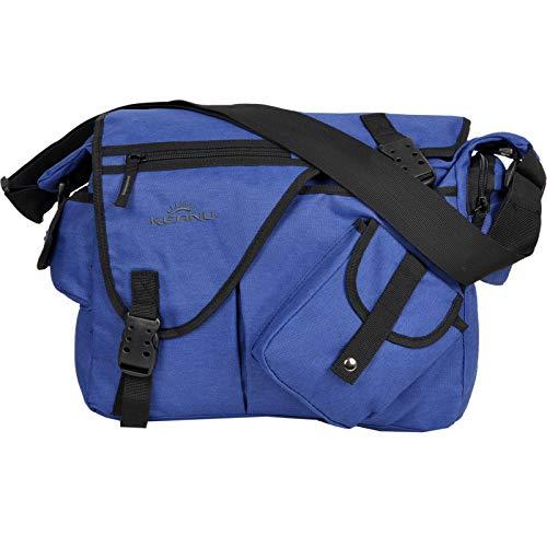 Premium Umhängetasche Laptop/Tablet Jack Bag Tasche KEANU Messenger DIN A4 :: viele Einschubfächer & RV Fächer :: Auswahl (Blau)
