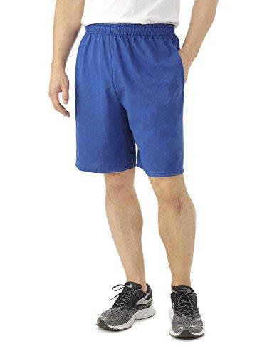 Fruit of The Loom Men's Jersey Short with Side Pockets, True Royal, Size Medium