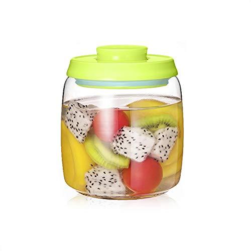 YUMEIGE Kosmetische Aufbewahrungsbox Kimchi-Gurkenglas-luftdichtes Glas, Honig-Zitrone Passionsfrucht, luftdichtes Glas, ein Schlüsselpresse zum Abdichten, transparente Flasche, abnehmbar zum Reinigen