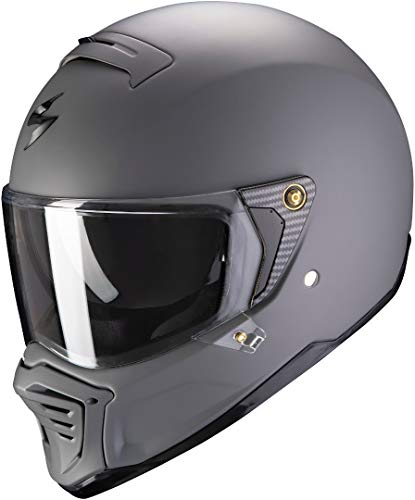 Scorpion Motorradhelm EXO-FIGHTER Matt cement grey, Grau, M, 87-100-228-04