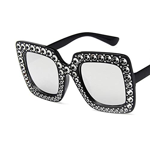 Occhiali da Sole Occhiali da Sole Vintage con Strass Quadrati Grandi Occhiali da Sole Firmati di Marca di Lusso per Le Donne Occhiali da Sole Oversize in Cristallo di Moda Occhiali da Sole A