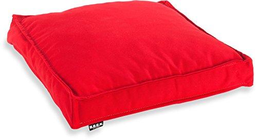H.O.C.K. Classic Uni Outdoor Sitzkissen Stuhlkissen für drinnen und draußen aus 100% Polyacryl(dralon (40x40x5cm, rot)