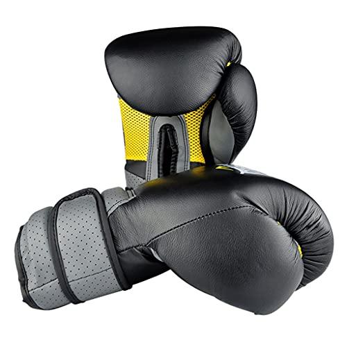 Boxing gloves Guantes de Boxeo Guantes Sanda Profesionales para Hombres y Mujeres Adultos Muay Thai Fighting Sandbag Guantes de Cuero