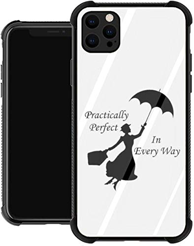 Practically 6 Mary Poppins Glass Phone Case for All of iPhone 12 Pro MAX 12 Mini 11 11 Pro MAX XR X/XS 7/8/SE 2020 7plus/8 Plus 6/6s 6plus/6s Plus