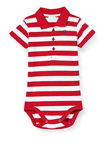 United Colors of Benetton Body, Rojo (Bianco/Rossol 615), 68 para Bebés