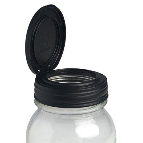 Recap FLIP regolare Mason Jar Lid - Nero