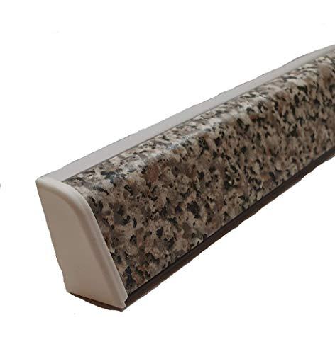 Alzatine per piani da cucina, spalletta per top, alzatine, finale per tappa con la seguente misura= 2 metri compresa di finali, alzatine in colore marmorizzato grigio