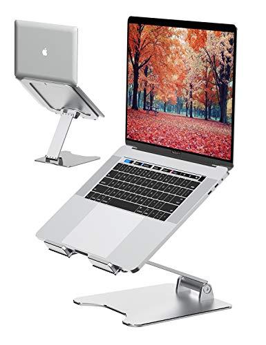 """VMEI Laptop Ständer, Aluminium Computer Riser, Ergonomischer Laptop-Aufzug für Schreibtisch, Metall Ständer Kompatibel mit MacBook Pro Air, Lenovo, HP, Dell, All10-15.6\""""Laptop-Silber"""