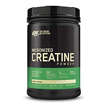 Optimum Nutrition Micronized Creatine Monohydrate Powder Unflavored Keto Friendly 240 Servings  Packaging May Vary