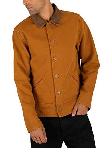 Scotch & Soda Moleskin Jacket met Corduroy Details jas