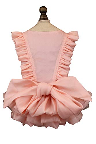 Puppy Face Dog Dress Summer Pet Dresses for Small Dogs Puppy Clothes Girl Dog Princess Skirt Wedding Outfits Cat Lace Apparel Pink (Small  Pink)