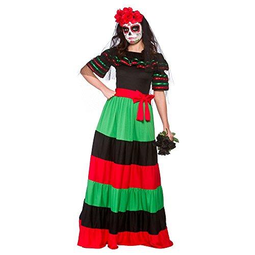 Wicked - Disfraz Mexicana para el Día de los Muertos - 42-44cm